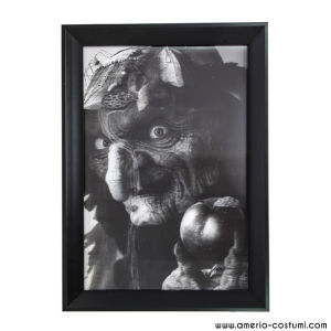 3D BLACK & WHITE WITCH FRAME - 45x35 cm