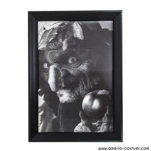 3D BLACK & WHITE WITCH FRAME - 45x35 cm