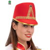 Cappello MAJORETTE in feltro - Rosso