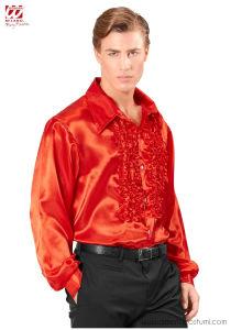 Camicia Disco Anni 70 Fashion - Rossa