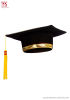 BIRRETE de graduación con decoraciones de oro
