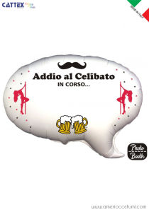 Mylar Photo Booth - ADDIO AL CELIBATO