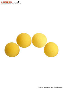 "Sponge Balls HD Ultra Soft x4 - 1.5"" - Yellow"