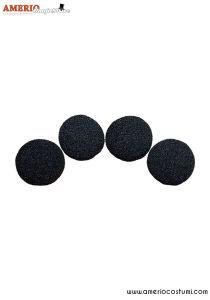 """Sponge Balls REGULAR x4 - 2.5"""" - Black"""