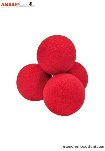 "Sponge Balls Super Soft x4 - 1"" - Red"