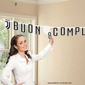 JUVE Festone BUON COMPLEANNO Jumbo - 294x20 cm